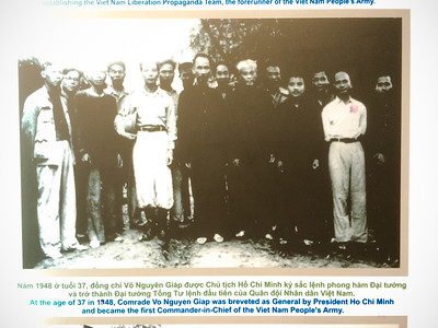 Quynh's great-grandfather is immediately to the right of Ho Chi Minh in this pic displayed on 'Book Street'.