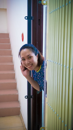 Lam says hello from their new place.