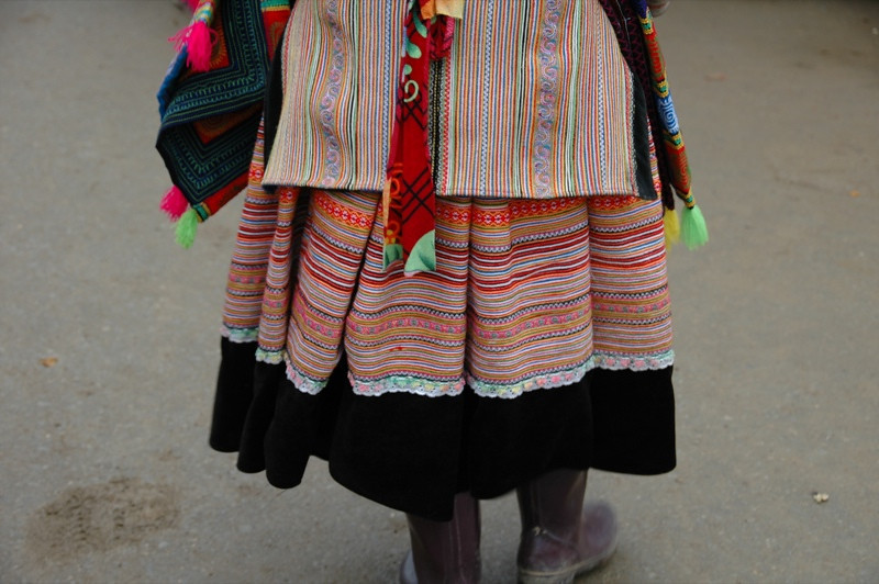 Flower Hmong Fabric - Bac Ha, Vietnam