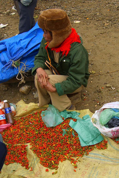 Chili Vendor at Bac Ha Market - Bac Ha, Vietnam