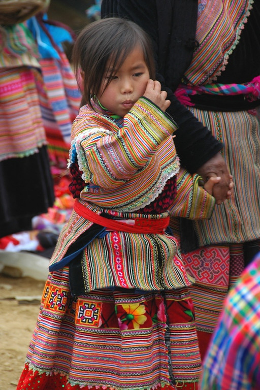 Young Indigenous Girl - Bac Ha, Vietnam