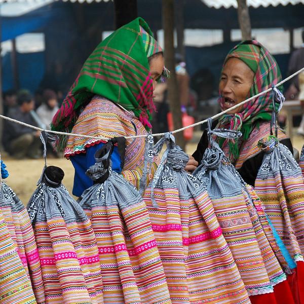 Selling Skirts - Bac Ha, Vietnam