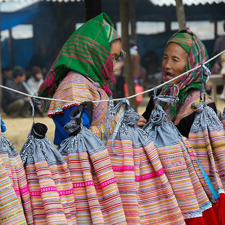Selling Skirts - Bac Ha, Vietnam