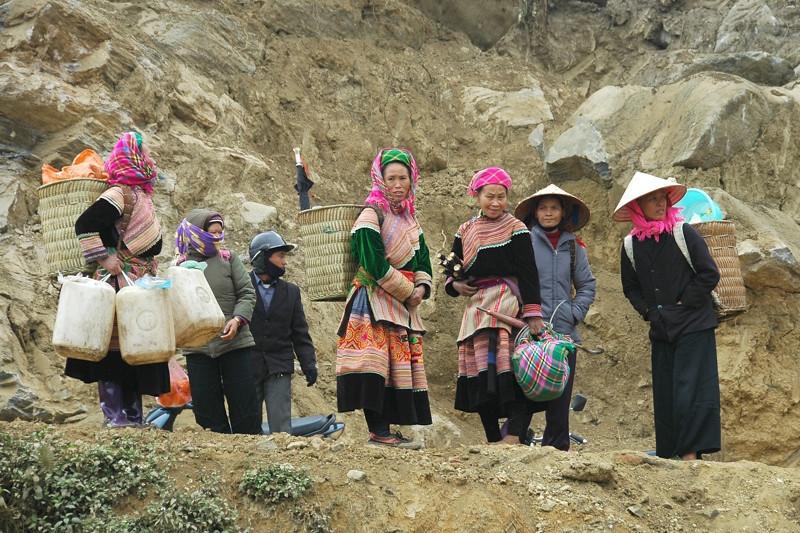 Group of Vietnamese Women - Bac Ha Market