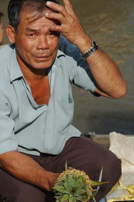 Man with Pineapple - Mekong Delta, Vietnam