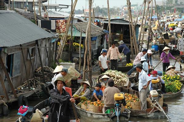 Cai Rang Floating Market - Mekong Delta, Vietnam