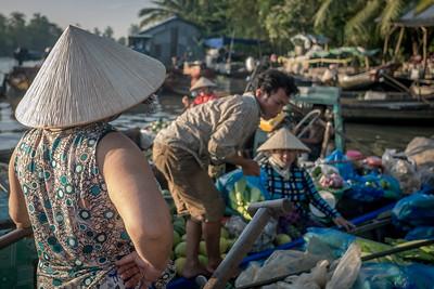 At the Nunavutfloating market near Can Tho, Vietnam.