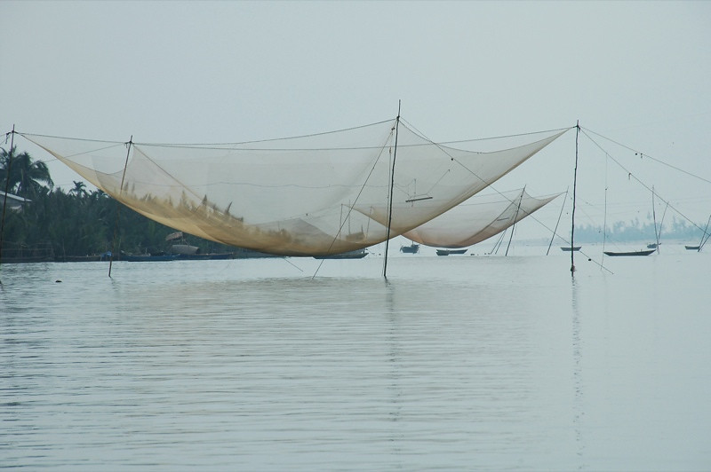 Fishing Nets on the River - Hoi An, Vietnam