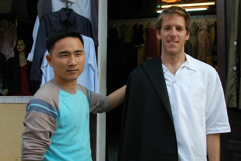 Checking Fabric - Hoi An, Vietnam