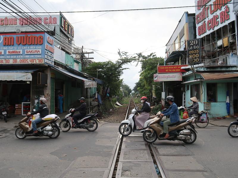 Railway line in Da Nang