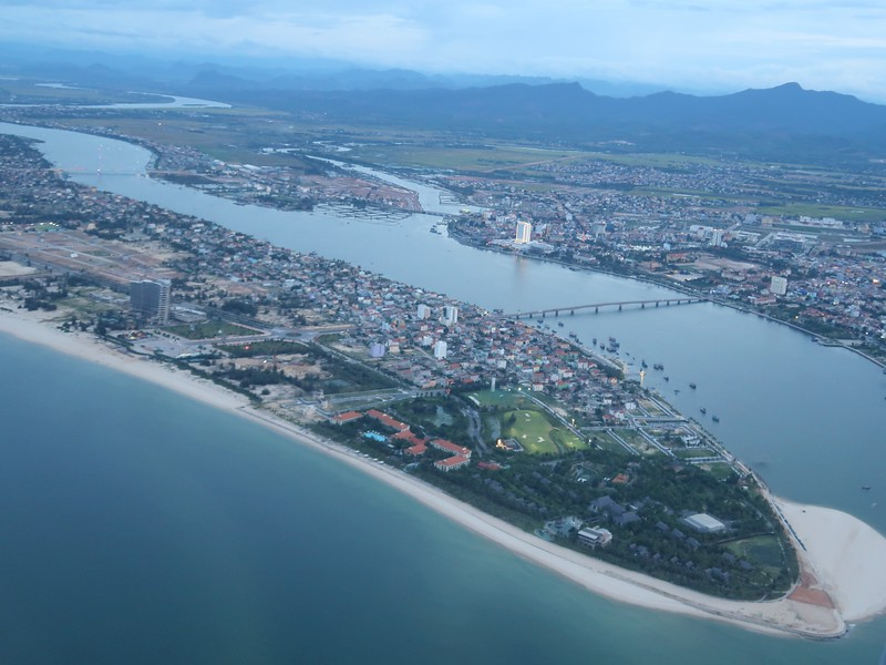 Aerial view of Dong Hoi City in Quang Binh Province, Vietnam