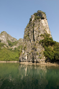 Beautiful rock island formation in Ha Long Bay, Vietnam