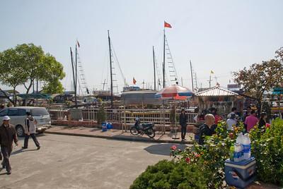 The scene at the dock -  Ha Long Bay, Vietnam