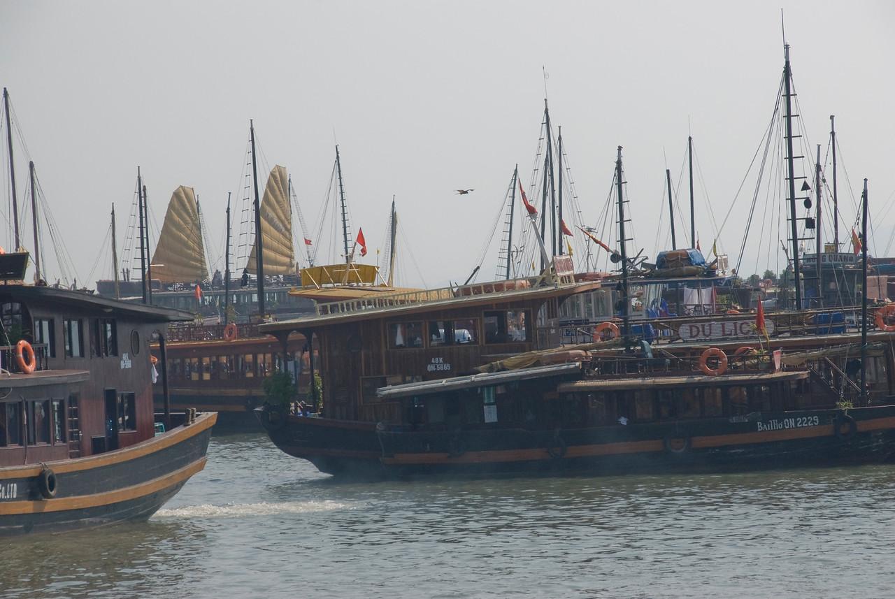 Ships in Harbor - Ha Long Bay, Vietnam