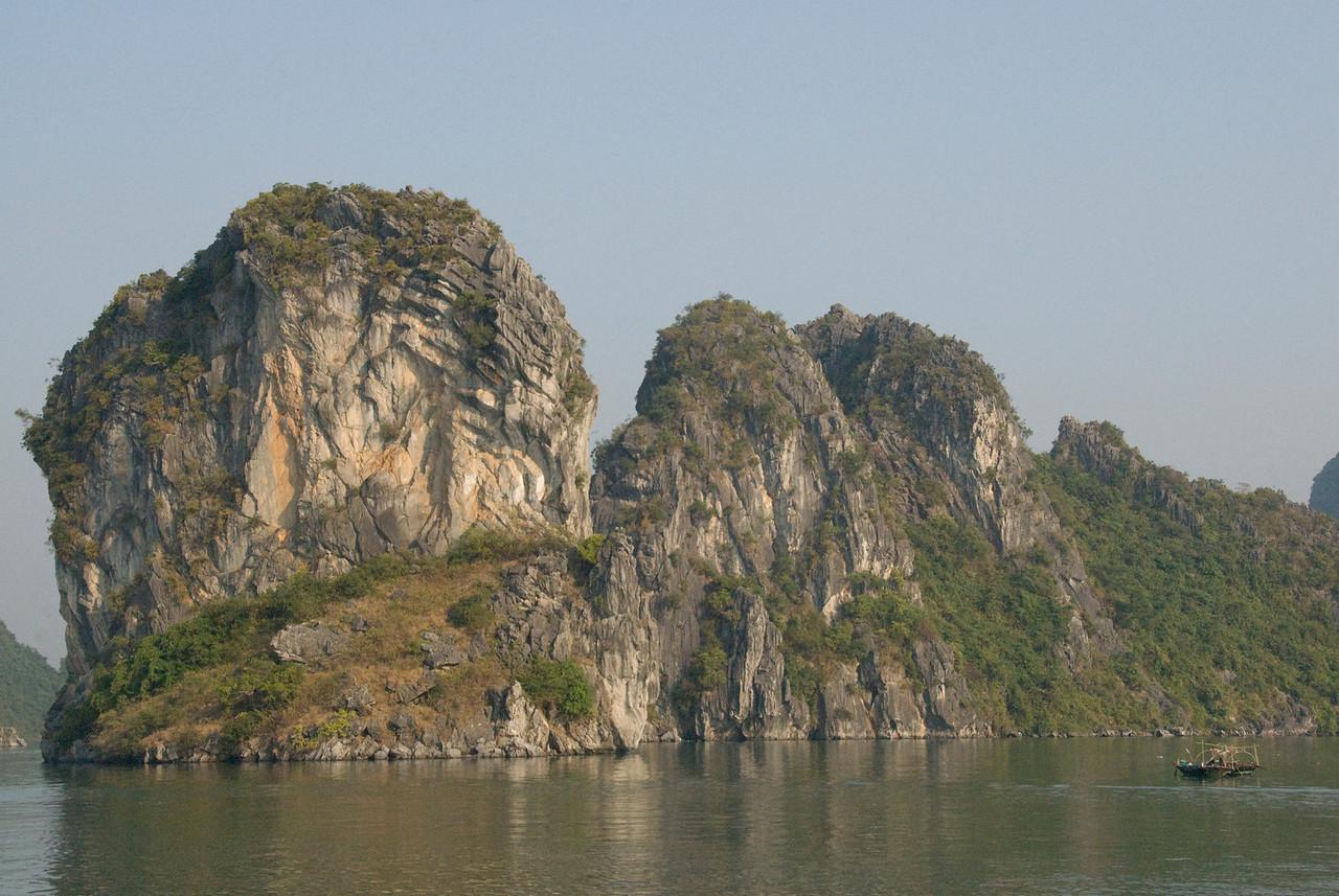 The rock islands in Ha Long Bay, Vietnam