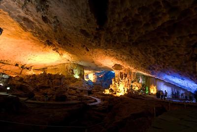 Breathtaking cave formation in Ha Long Bay, Vietnam