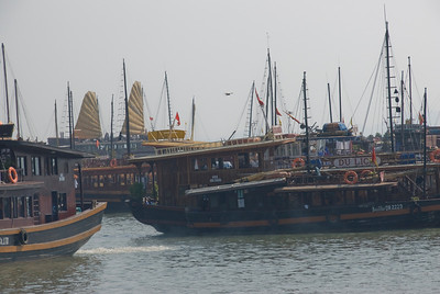 Ships in Harbor at Ha Long Bay, Vietnam