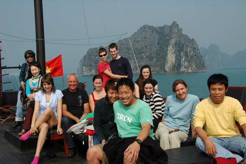 Boat Passengers - Halong Bay, Vietnam