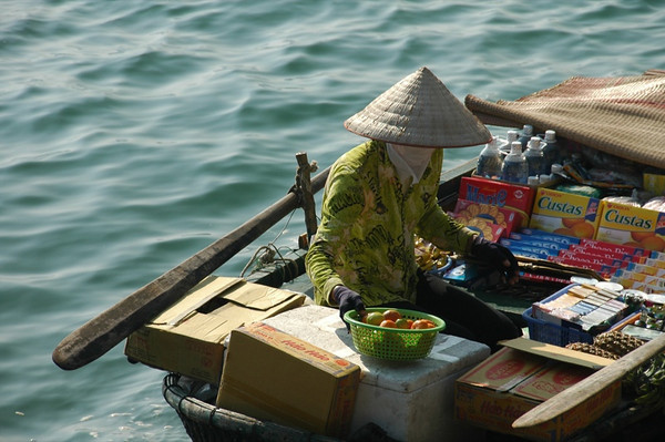 Oreos in a Boat - Halong Bay, Vietnam