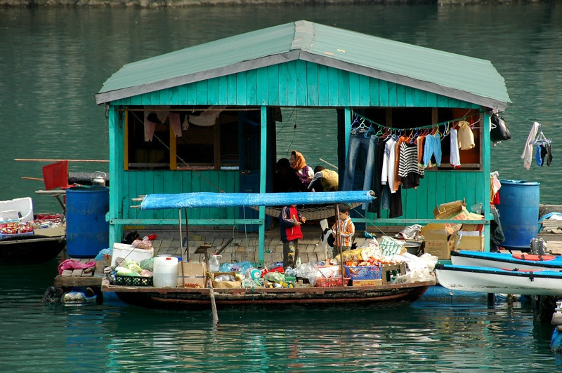Floating House - Halong Bay, Vietnam