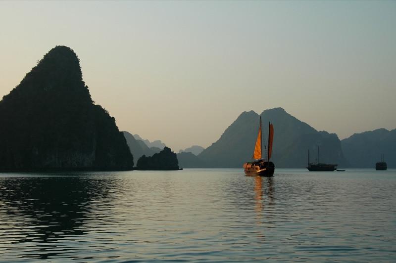 Late Afternoon Sun - Halong Bay, Vietnam