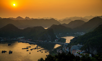 Magnificent sunset at Cat Ba.