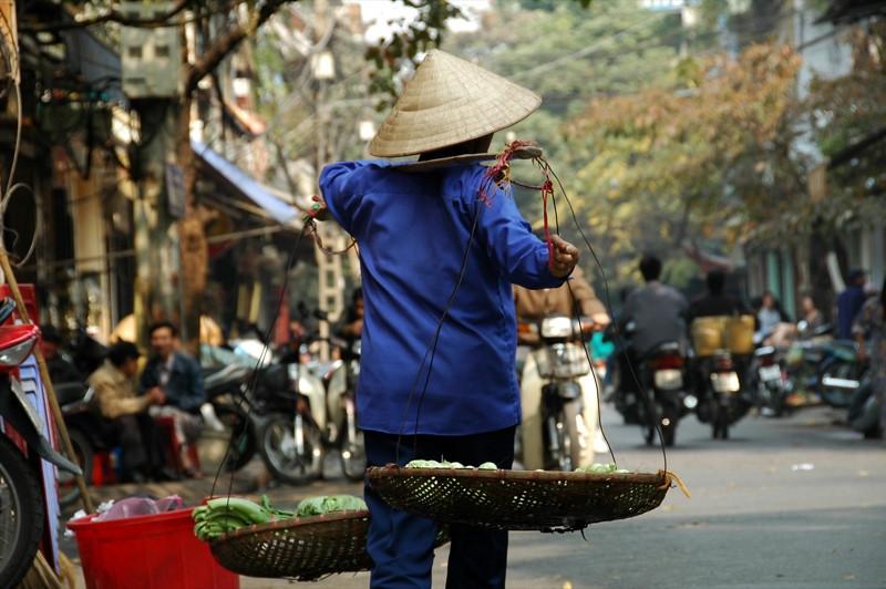 Typical Street Vendor - Hanoi, Vietnam
