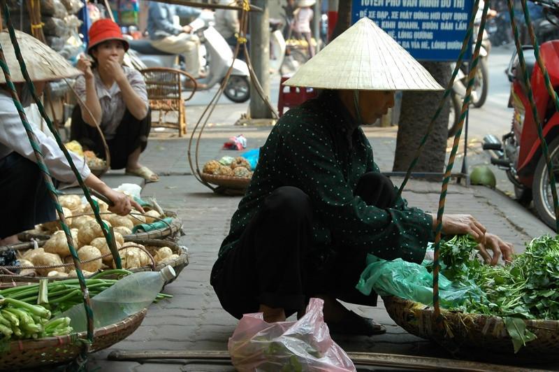 Typical Sidewalk Scene - Hanoi, Vietnam