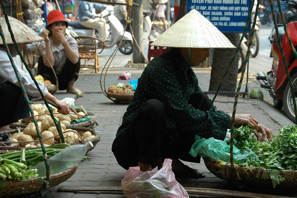 Typical Sidewalk Scene - Hanoi, Vietnam