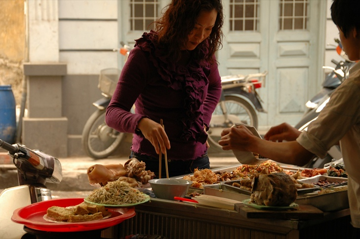 Woman at a Food Stall - Hanoi, Vietnam