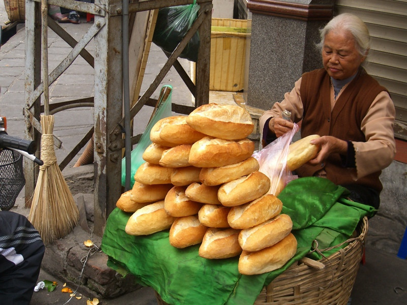 Fresh Loaves of Bread - Hanoi, Vietnam