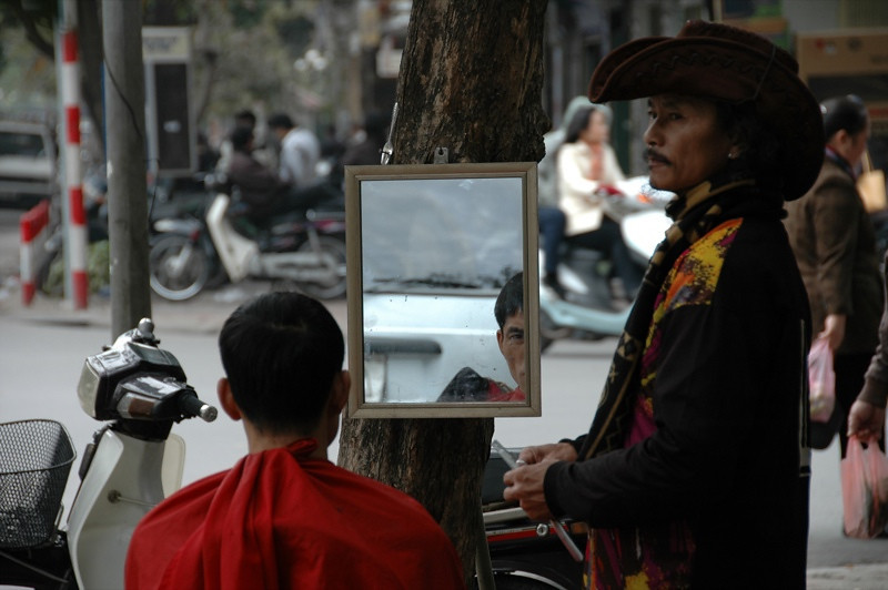 Getting a Haircut - Hanoi, Vietnam