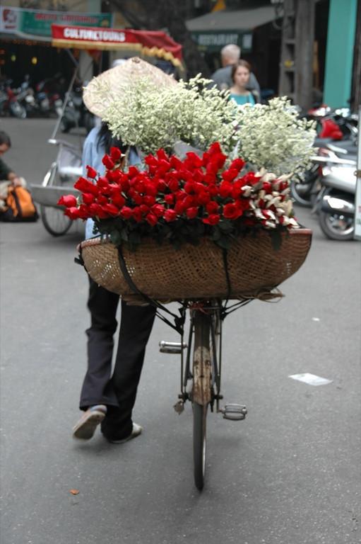 Florist on Bike - Hanoi, Vietnam