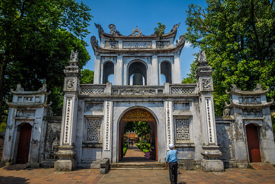 Picturesque gate of the Temple of Literature (Van Mieu).