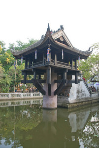 One Pillar Pagoda in Hanoi, Vietnam