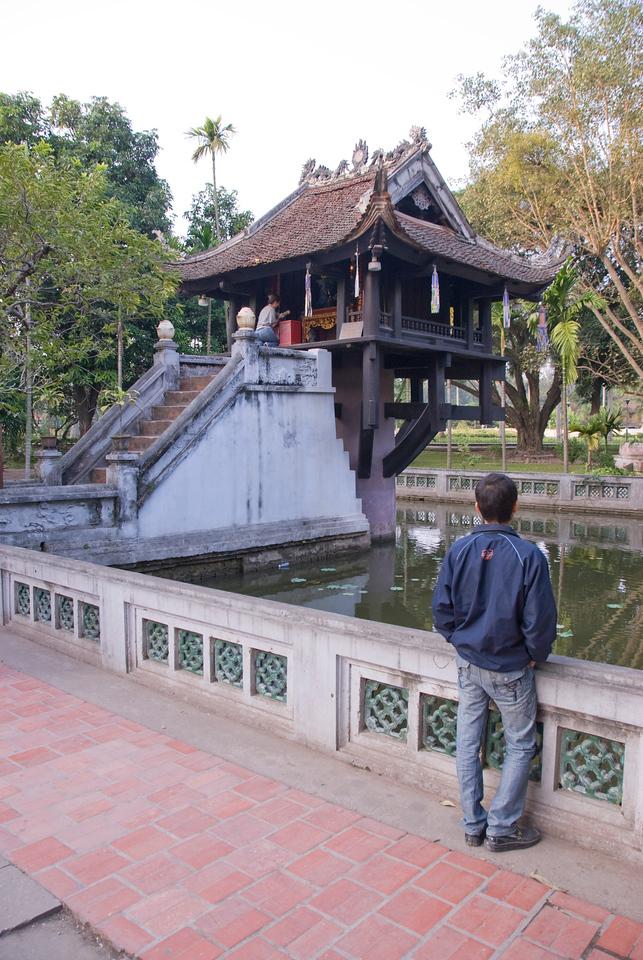 One Pillar Pagoda aka Dien Huu Pagoda in Hanoi, Vietnam