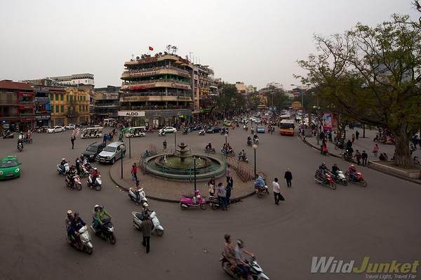 Roundabout in downtown Hanoi