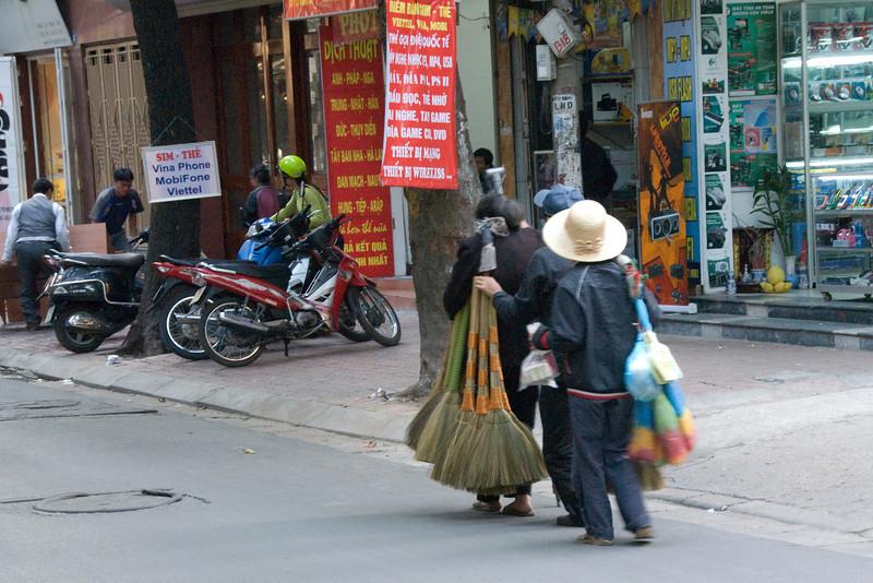 Broom Vendors in Hanoi, Vietnam