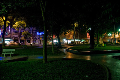 City park at night - Hanoi, Vietnam