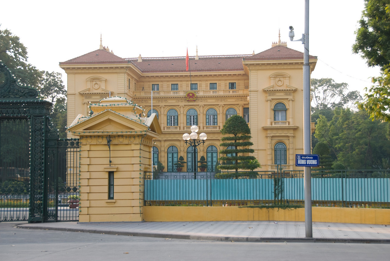 The Presidential Palace in Hanoi, Vietnam