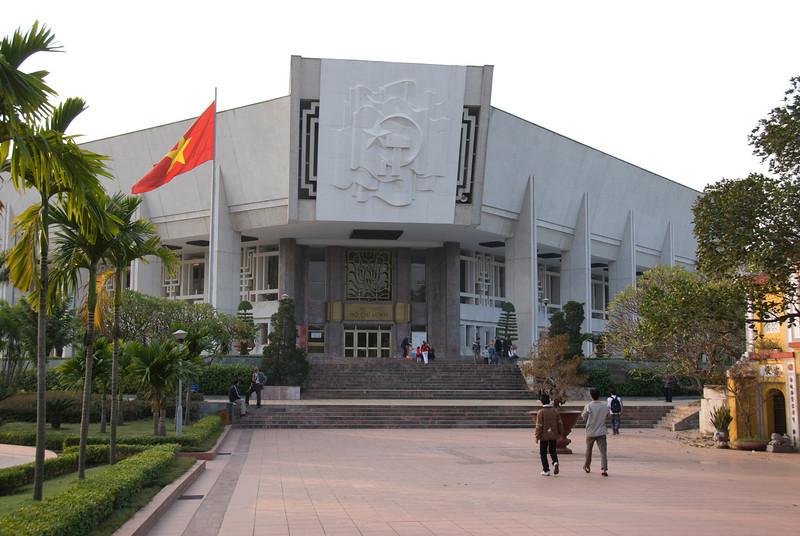 Path to the Ho Chi Minh Museum - Hanoi, Vietnam