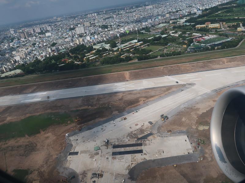 Runway repairs at Tan Son Nhat