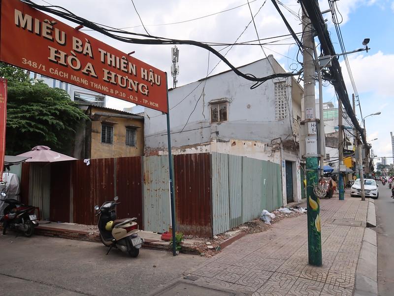 Land clearance at Hoa Hung