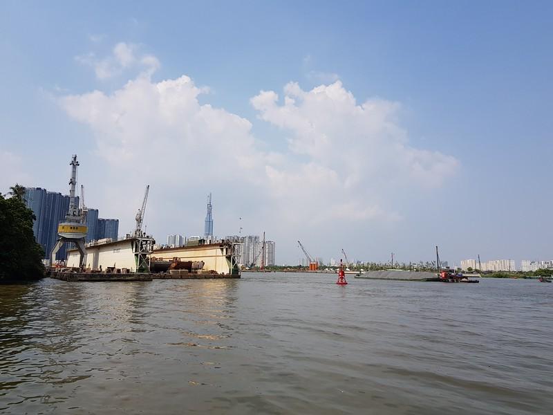Dry dock on Saigon River