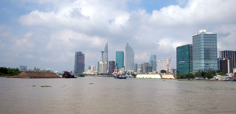 Saigon River before Thu Thiem 2 Bridge construction