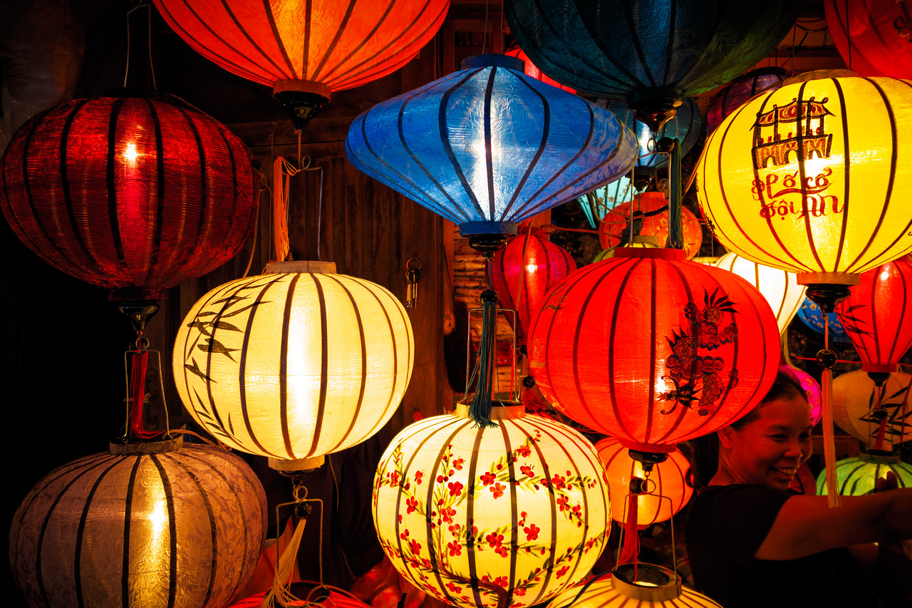 The iconic handcrafted lanterns of Hoi An.