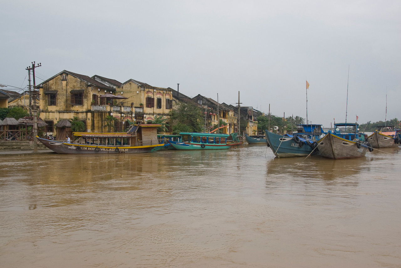 More boats on the river of Hoi An, Vietnam