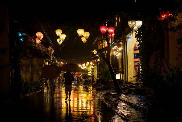 Hoi An at night with lanterns