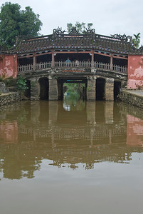 The concrete foot bridge in Hoi An, Vietnam