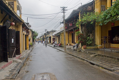 View of a quaint alley in Hoi An, Vietnam